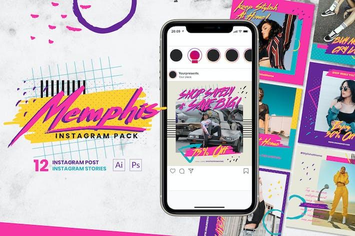 Thumbnail for Memphis Instagram Pack