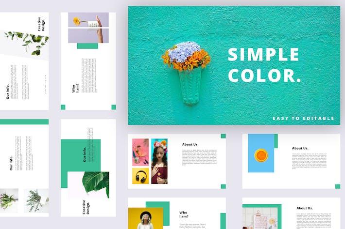 Simple Color - Keynote Presentation