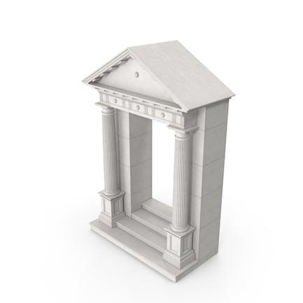 Griechisch-römische Tür mit Giebel