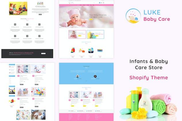 Luke - Infants & Baby Care Store Shopify Theme