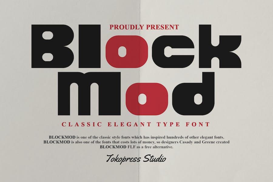 Blockmod - Block modern font