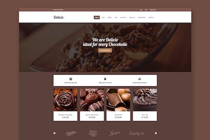 Delicio - Chocolate Shop HTML Template