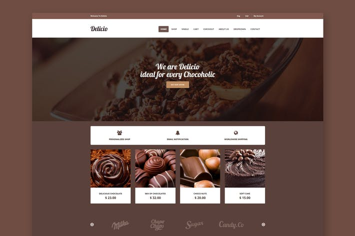 Thumbnail for Delicio - Chocolate Shop HTML Template