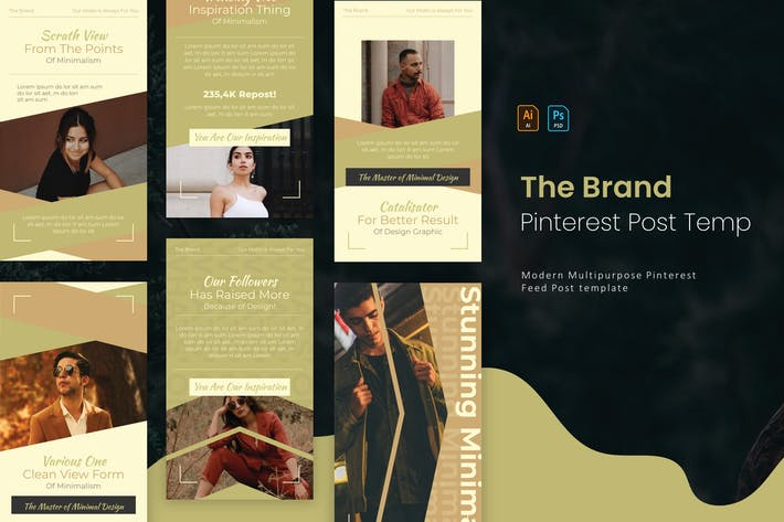 The Brand | Pinterest Post Template