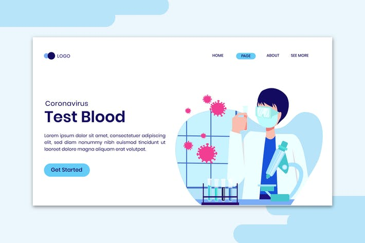 Thumbnail for Covid-19 Coronavirus Blood Testing Concept