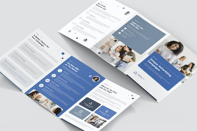Brochure – Business Agency Tri-Fold A5 - product preview 3