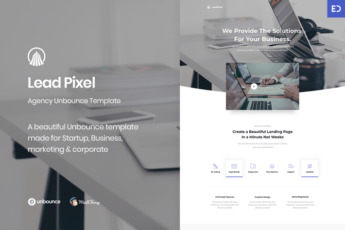 Cover Image For LeadPixel - Agency Unbounce Landing Page