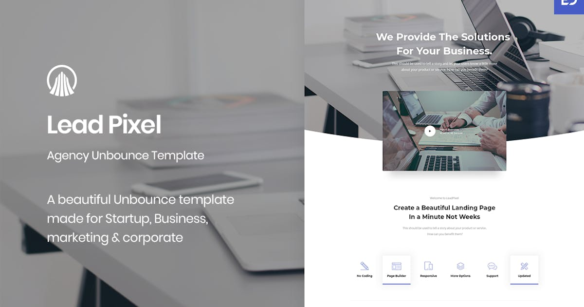 Download LeadPixel - Agency Unbounce Landing Page by ExplicitConcepts