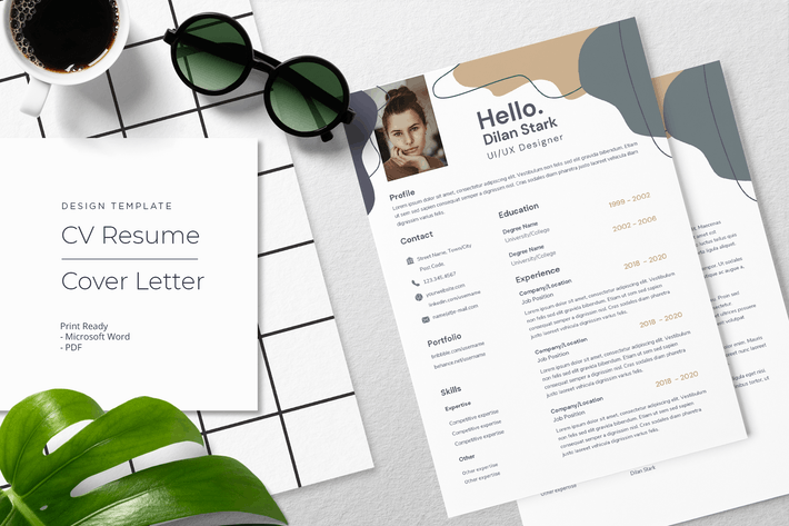 Thumbnail for Dillan Stark - CV Resume Template