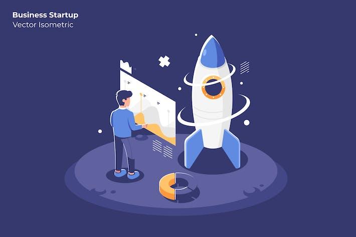 Thumbnail for Business Startup - Vector Illustration