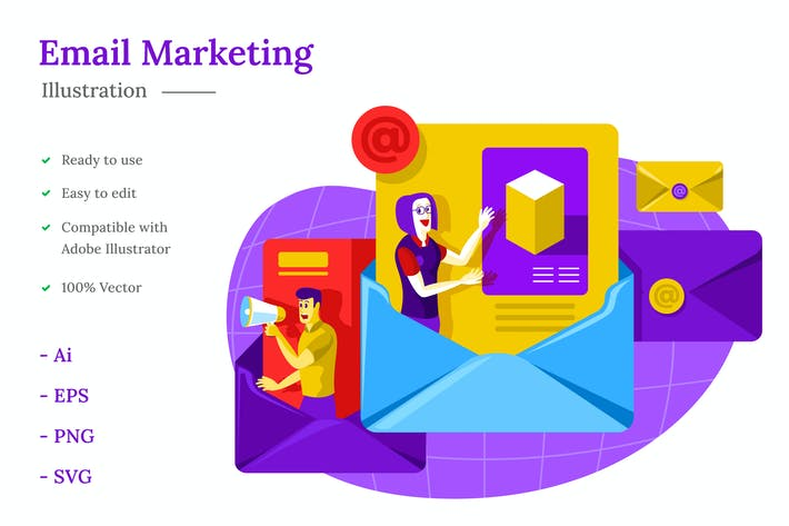 Thumbnail for Illustration marketing par e-mail