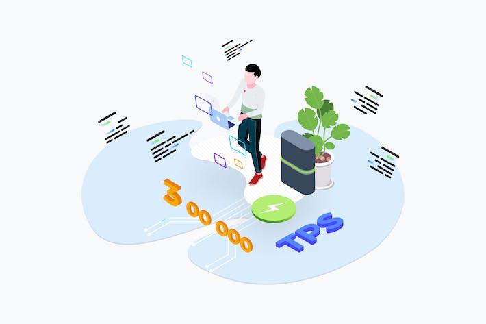 Thumbnail for Blockchain-Plattform-Transaktion pro Sekunde