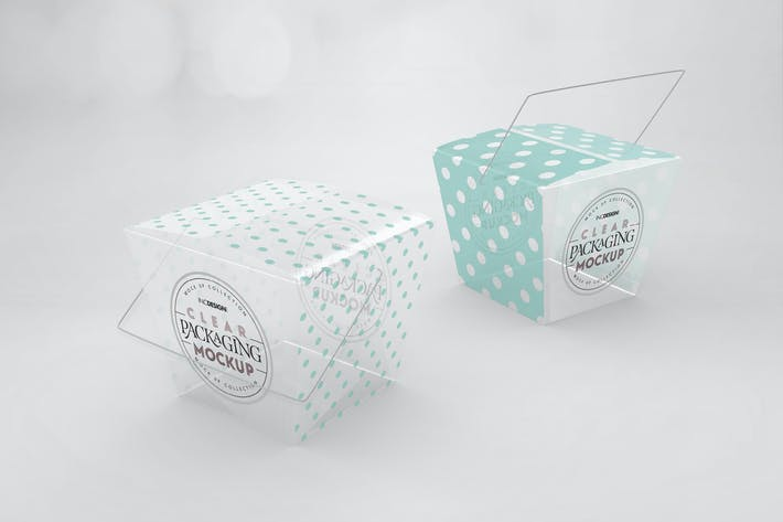Thumbnail for Clear Noodle Boxes Packaging Mockup