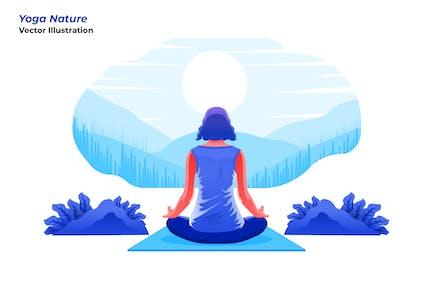 Yoga Nature - Ilustración Vector