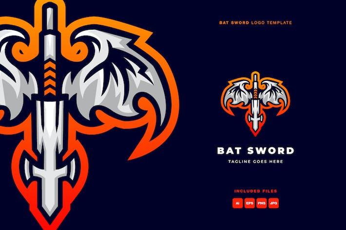 Bat Sword Logo Template