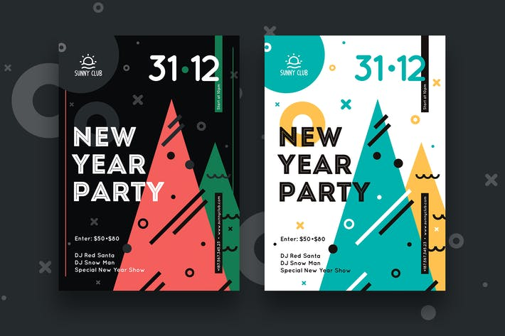 Thumbnail for New Year Party Poster #2