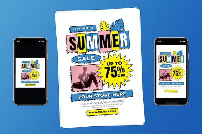 Thumbnail for 90s Summer Sale Flyer Set