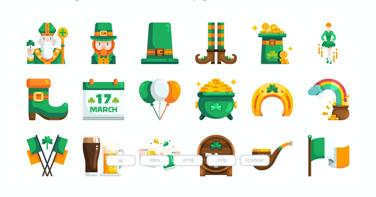 Download 30 St-Patrick's Day- Flat by Justicon