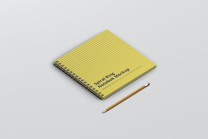 Spiral Ring Notebook Mockup Square Format