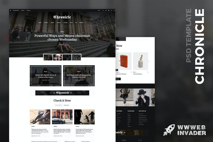 Thumbnail for Chronicle - Premium News and Magazine PSD Template