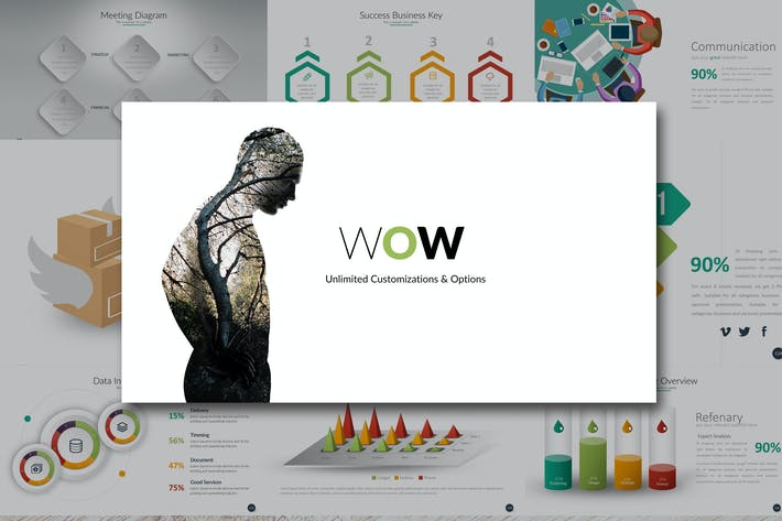 thumbnail for wow keynote - 53 Powerpoint Template For Business Final