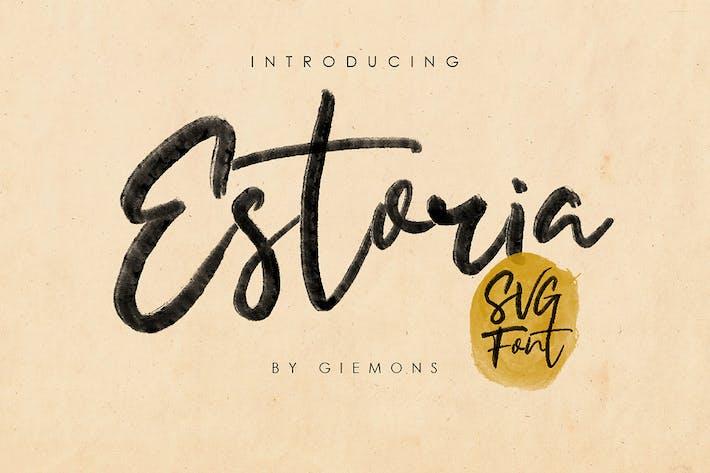 Thumbnail for Estoria Script - SVG Font