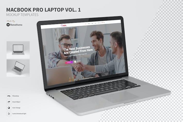 Thumbnail for Macbook Pro Laptop Mockup vol.01
