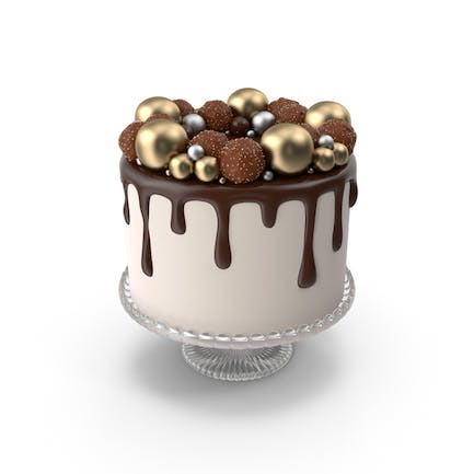 Chocolate Cake with Candy Decor
