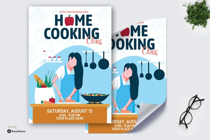 Cover Image For Home Cooking Class - Creative Poster GR