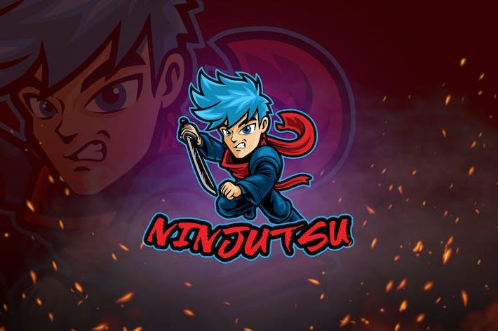 Thumbnail for Männliche Krieger-Maskottchen & Logo V3 - Ninja