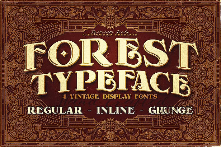 Thumbnail for Forest - Display Font