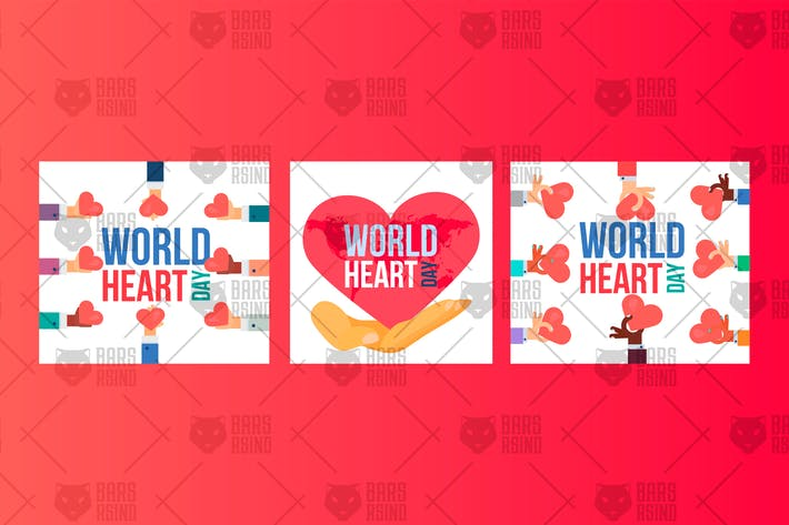 Thumbnail for World Heart Day Banners