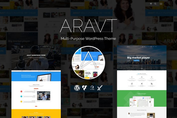 Thumbnail for Aravt - Creative MultiPurpose WordPress Theme