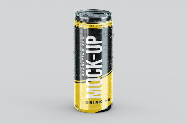 Thumbnail for Energy Drink Aluminium Can Mock-Up Template