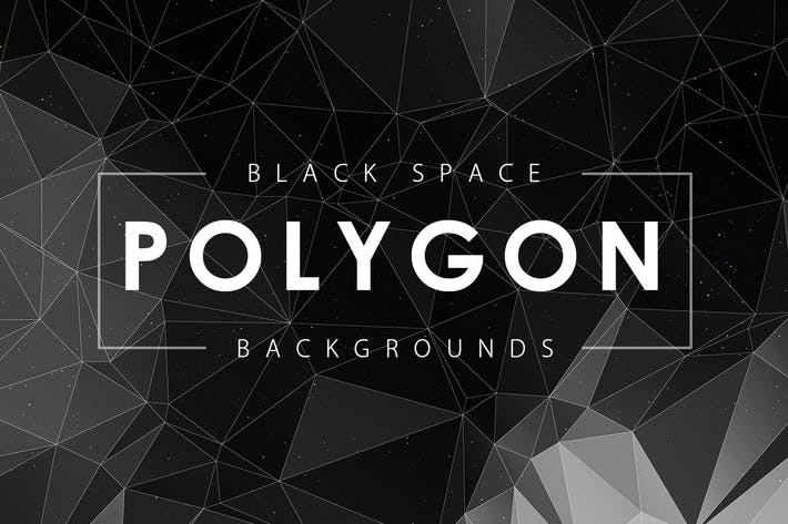 Thumbnail for Black Space Polygon Backgrounds