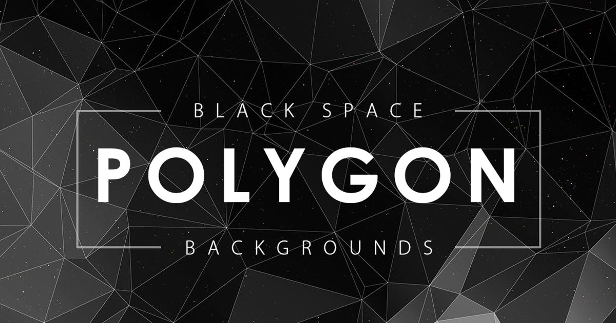 Download Black Space Polygon Backgrounds by M-e-f