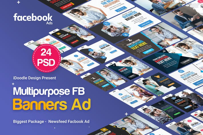 Thumbnail for NewsFeed Multipurpose Banners Ad - 24 PSD