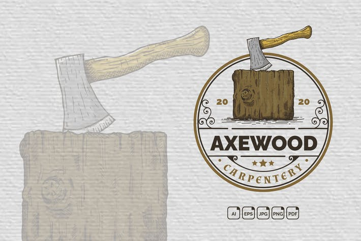Thumbnail for Axe Wood Vintage Handdrawn Logo