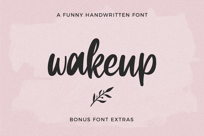 Thumbnail for Wakeup Extras Symbol Font