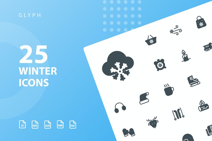 Thumbnail for Winter Glyph Icons