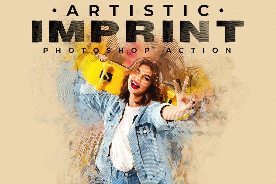 Artistic Imprint Photoshop Action