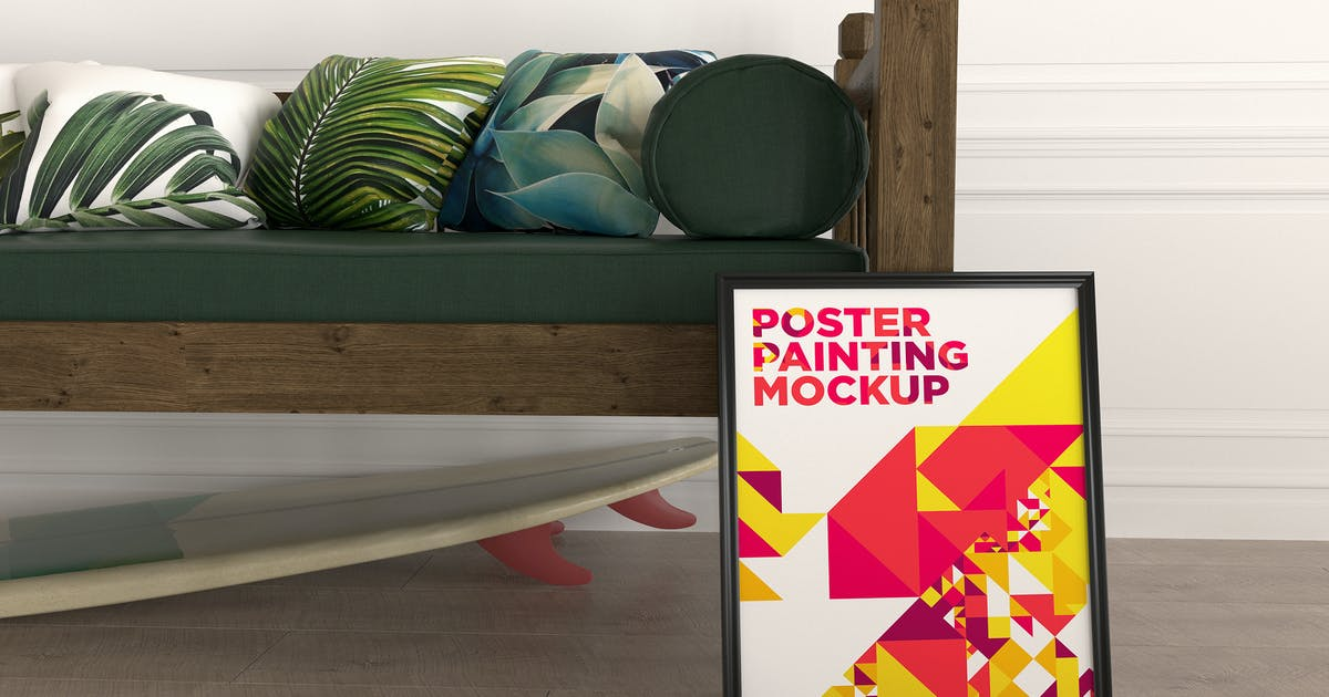Download Poster Painting Mockup Vol. 7 by traint