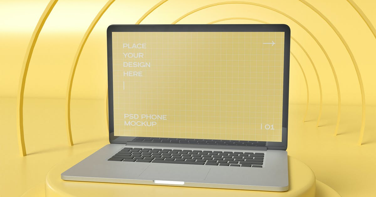 Download Laptop Mockup by megostudio