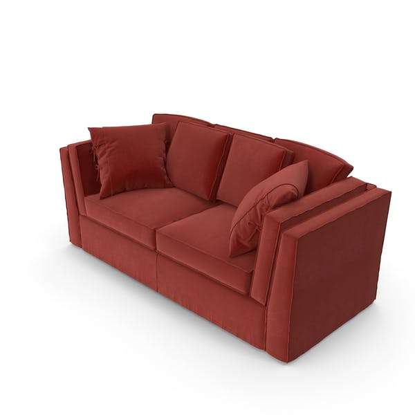 Red Modern Sofa