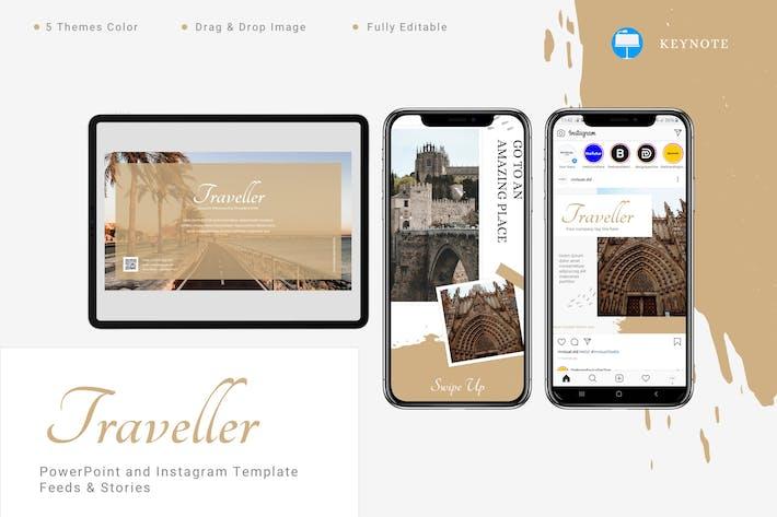 Thumbnail for Traveller - Keynote и шаблон Instagram