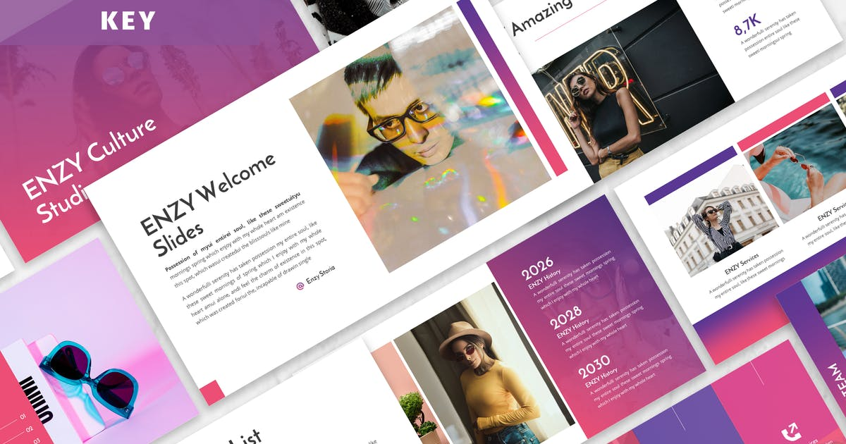 Download Enzy - Business Keynote Template by Blesstudio