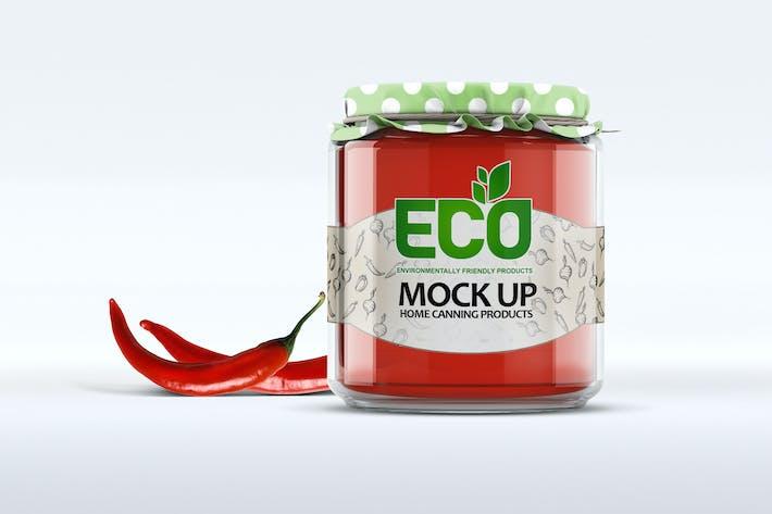 Cover Image For Glass Jar Mockup