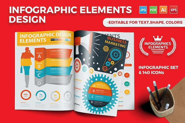 Thumbnail for Infographics Template Design 2
