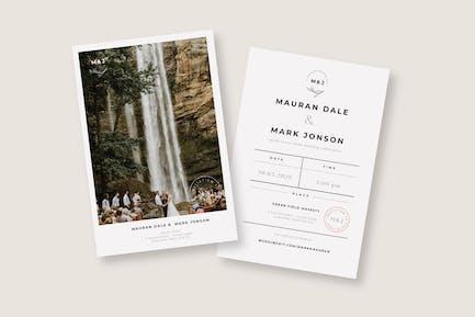 Cd Vintage invitation de mariage