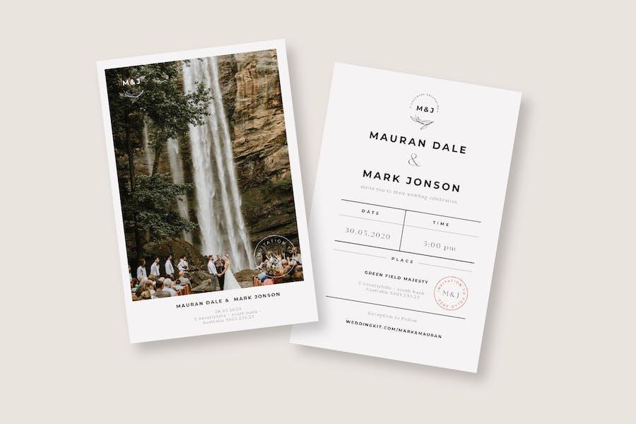 Cd Vintage Wedding Invitation